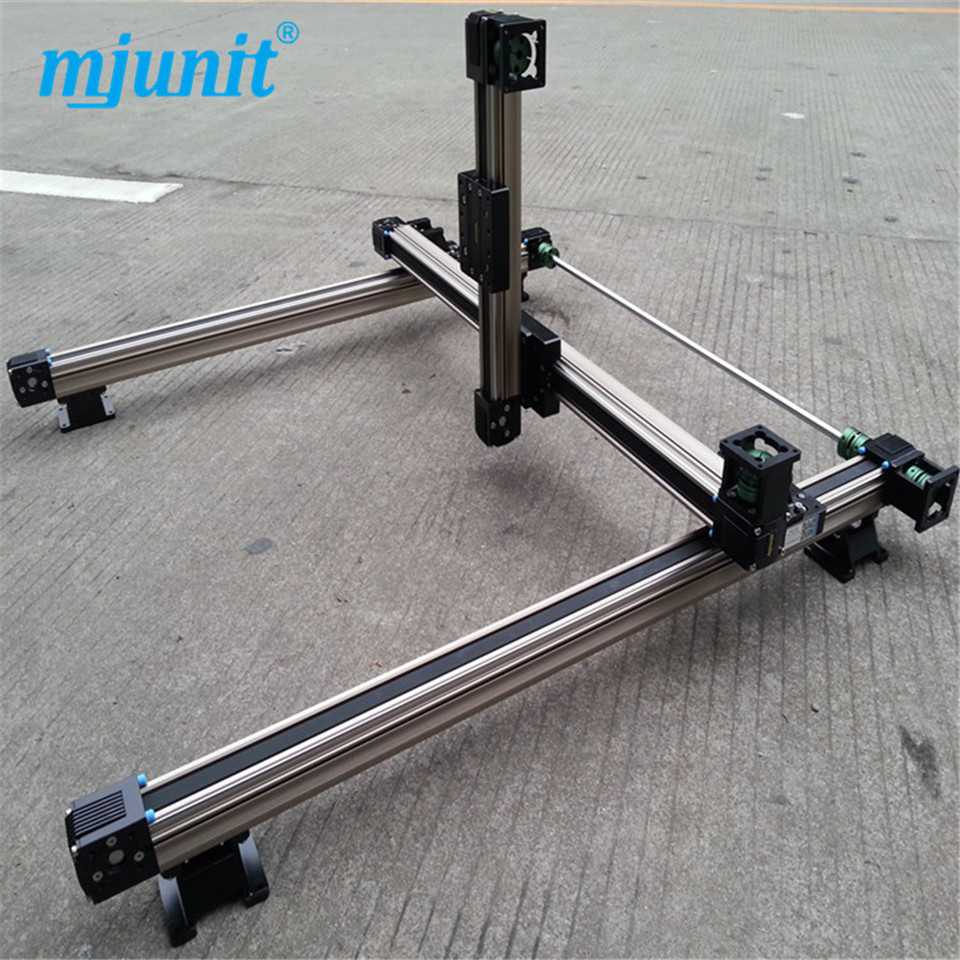 Horizontal and vertical Linear Stage Z Axis Positioning Stage linear stage , crossed roller positioning stage belt driven mechanical linear unit with external roller guides positioning system