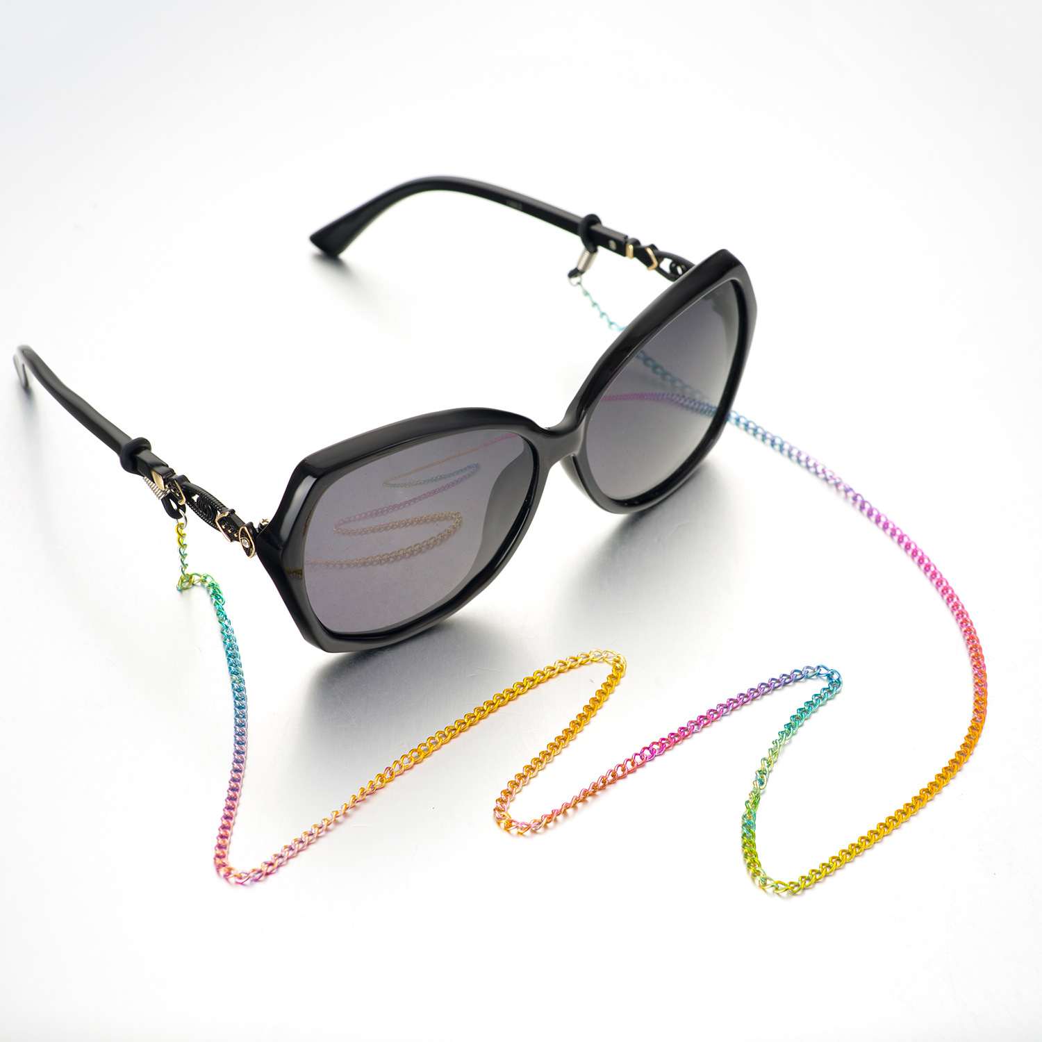 Fashion Colorful Copper Chain Eyeglass Strap Reading Glasses Spectacles Sunglasses Eyewear Eyeglass Chain Neck Cord Strap Rope