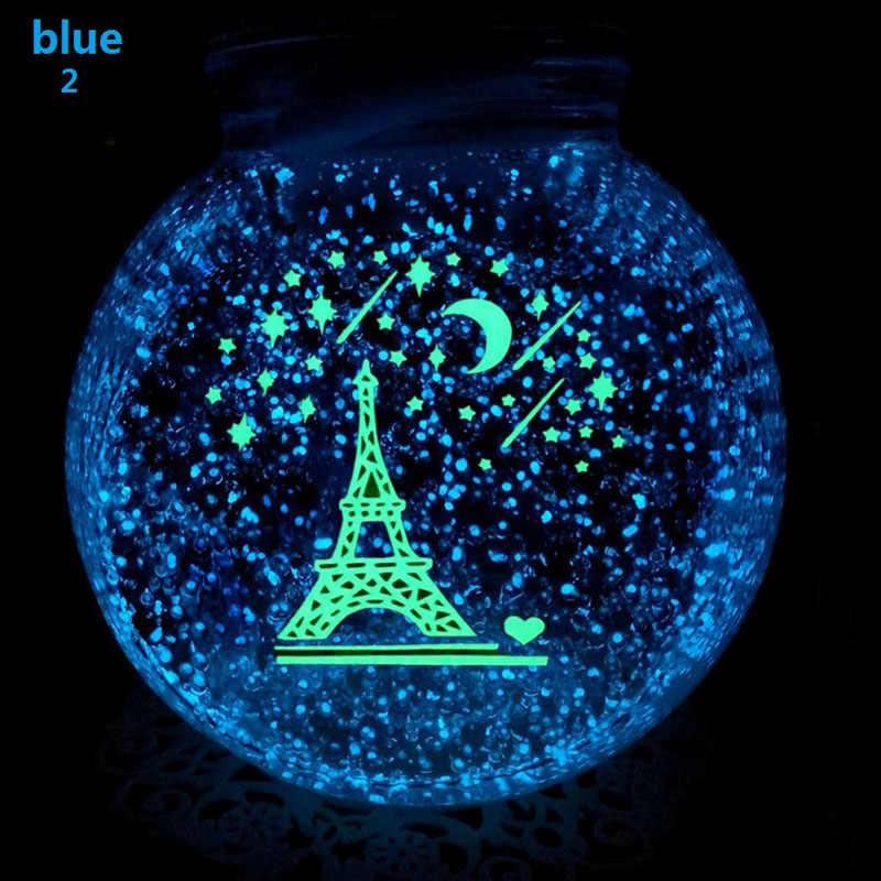 2019 Nieuwe Fish Tank Noctilucent Zand Night Luminous Dark Bright Glow Fluorescerende Deeltjes Aquarium Aquarium Decoratie 7 Kleuren