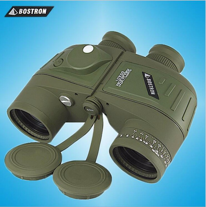 BOSTRON 10X50 Binoculars HD Rangefinder Compass Waterproof Nitrogen Telescope Military Binocolo Teleskop Eyepiece Focus Bak4 стоимость