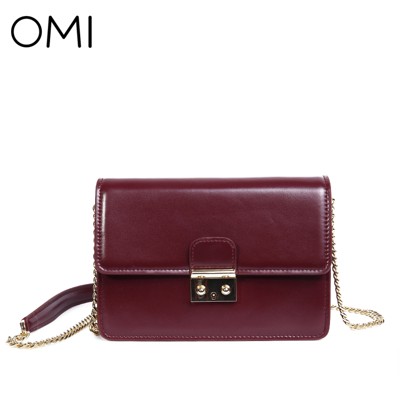 все цены на OMI Women's bag Women's genuine leather Messenger bags Female's handbags famous designer brand bags luxury Day Clutches Flap bag онлайн