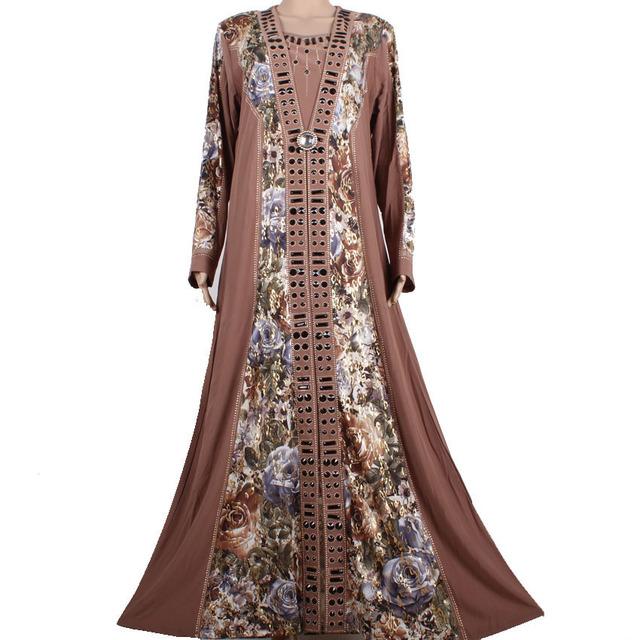 2015 Vestido Caftán Abaya Musulmán Ropa Islámica para Las Mujeres Abaya Dubai Kaftan Robe Lujo Pesado Rebordear Formal Vestido NCS2516