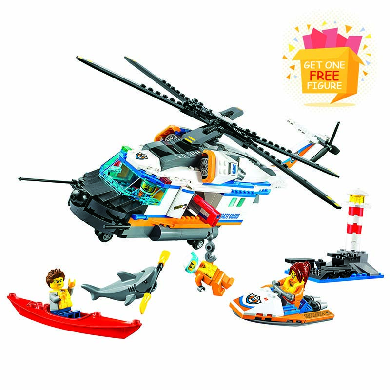 Bela Lepin City Coast Guard Heavy-Duty Rescue Helicopter building blocks DIY Educational bricks toys compatible with legoe 2018 584pcsvillage building blocks compatible lepin boy girl toys compatible legoe minecraft city bricks diy for children friends gif