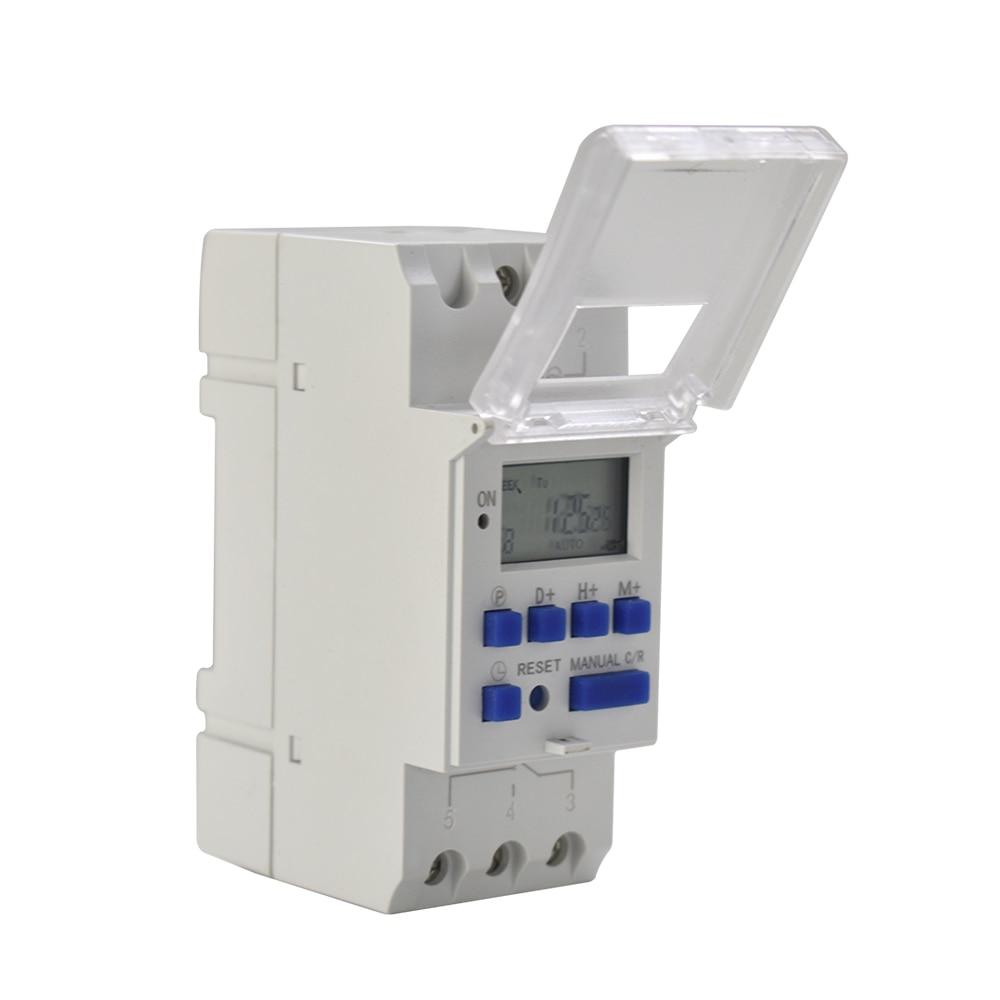 2018 FGHGF new AC 220 v digital LCD programmable power timer time switch relay 16A BOM timer DIN rail Relays Wholesale price din rail digital lcd power programmable timer ac 220v 16a time relay switch