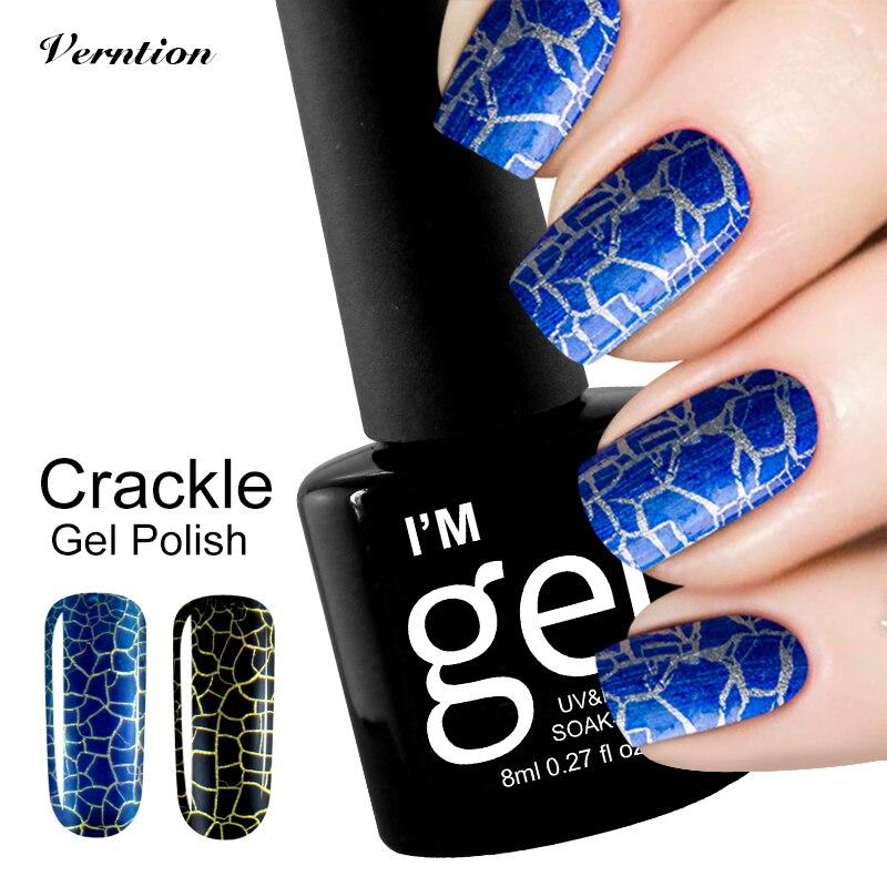 Brand Crack Nail Polish Glue Crackle UV Gel Nail Polish