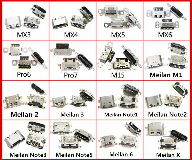 المصغّر usb وصلة مرفاع ميناء الشحن المقبس الإناث ل MX3 MX4 MX5 MX6 Pro5 Pro6 Pro7 زائد Meilan 2 3 6 M1 m15 ملاحظة 2 3 5 X