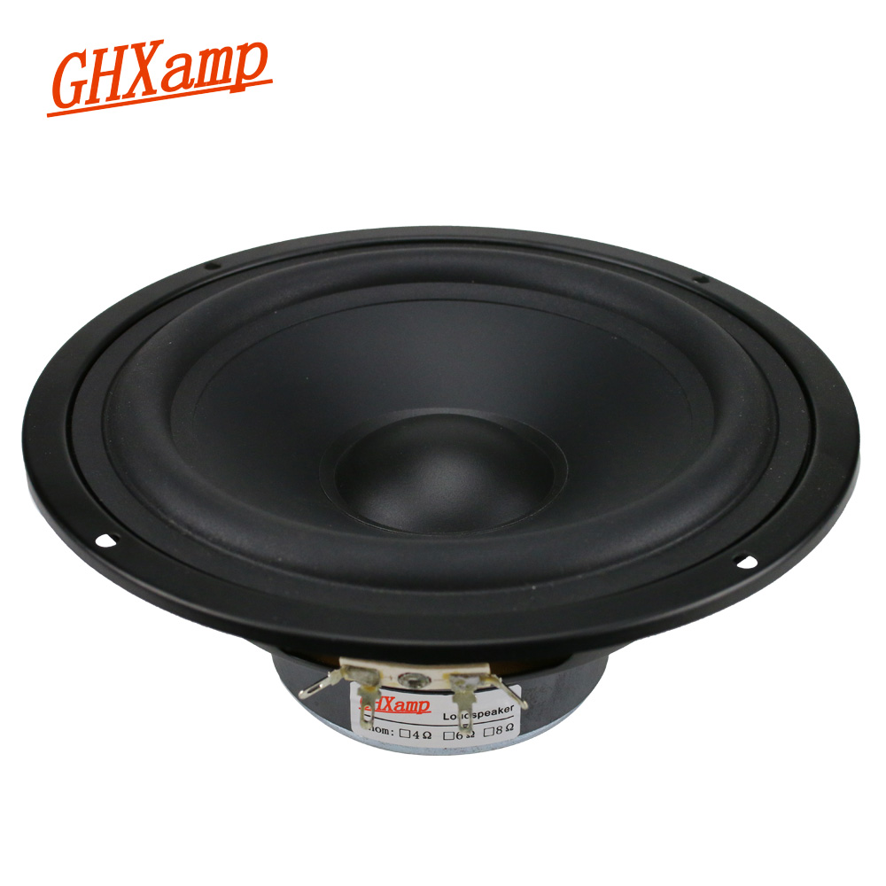 GHXAMP 6.5 inch Car Mid Bass Speaker Unit 4ohm 30W Mediant Woofer Loudspeaker For Car Audio modification 1pc ghxamp 6 5 inch full range speaker coaxial horn car speaker unit 8ohm 30w neodymium car audio loudspeaker 2pcs