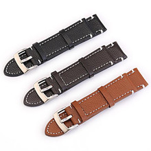 Handmade Vintage 20mm 22mm 24mm 26mm Italy Crazy Horse Calfskin Leather Strap Watch Band For PAM For Pilot + Tool все цены