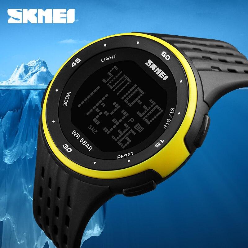 df957436034 Relógios dos homens Do Esporte Da Marca SKMEI 50 m Eletrônica Digital LED Relógio  Militar Das Mulheres Ao Ar Livre À Prova D  Água Relógios de Pulso Relogio  ...