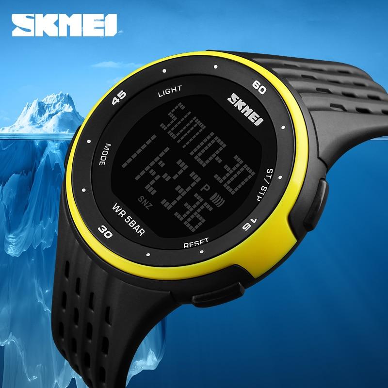 728bf62a3c1 Relógios dos homens Do Esporte Da Marca SKMEI 50 m Eletrônica Digital LED  Relógio Militar Das Mulheres Ao Ar Livre À Prova D  Água Relógios de Pulso  Relogio ...