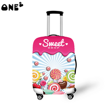 2016 ONE2 Design sweet candy pattern printing cover apply to 22,24,26 inch suitcase colorful trekking luggage cover
