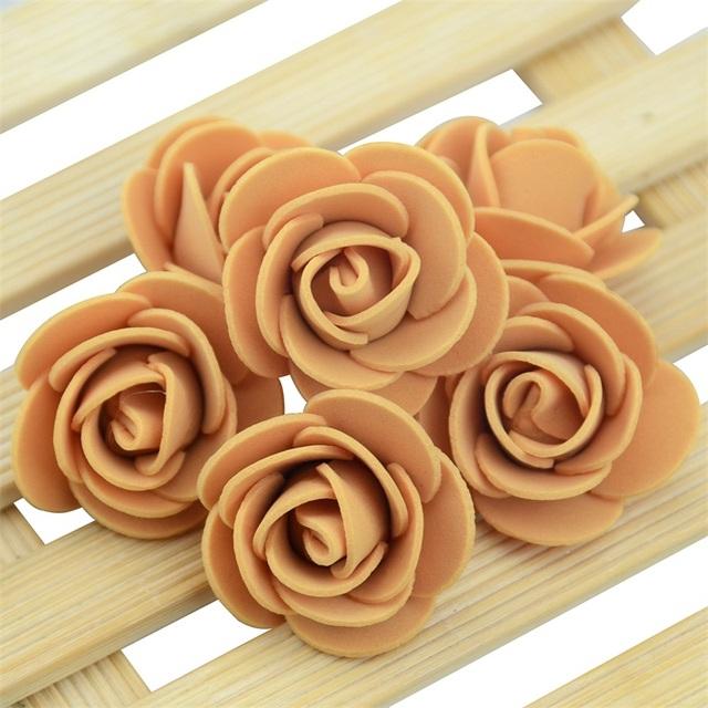50PCS/Bag Mini PE Foam Rose Flower Head Artificial Rose Flowers Handmade DIY Wedding Home Decoration Festive & Party Supplies