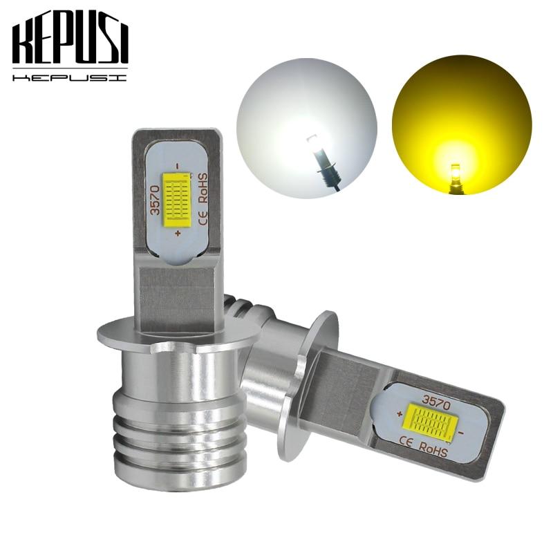 2x H3 Led Fog Light Bulb Auto Car Motor Truck Driving DRL LED Bulbs 12V 24V
