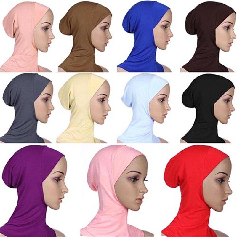 Ramadan Soft Muslim Full Cover Inner Women's Hijab Bonnet Cap Islamic Underscarf Neck Head Bonnet Hat