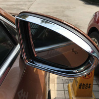 For Volkswagen Touran 2009 2015 ABS Chrome Car rearview mirror block rain eyebrow Cover Trim accessories car styling