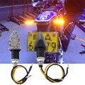 2 Unids Universal 15 LED Luz de Señal de Vuelta de La Motocicleta Indicadores Ámbar Luz Dropshipping