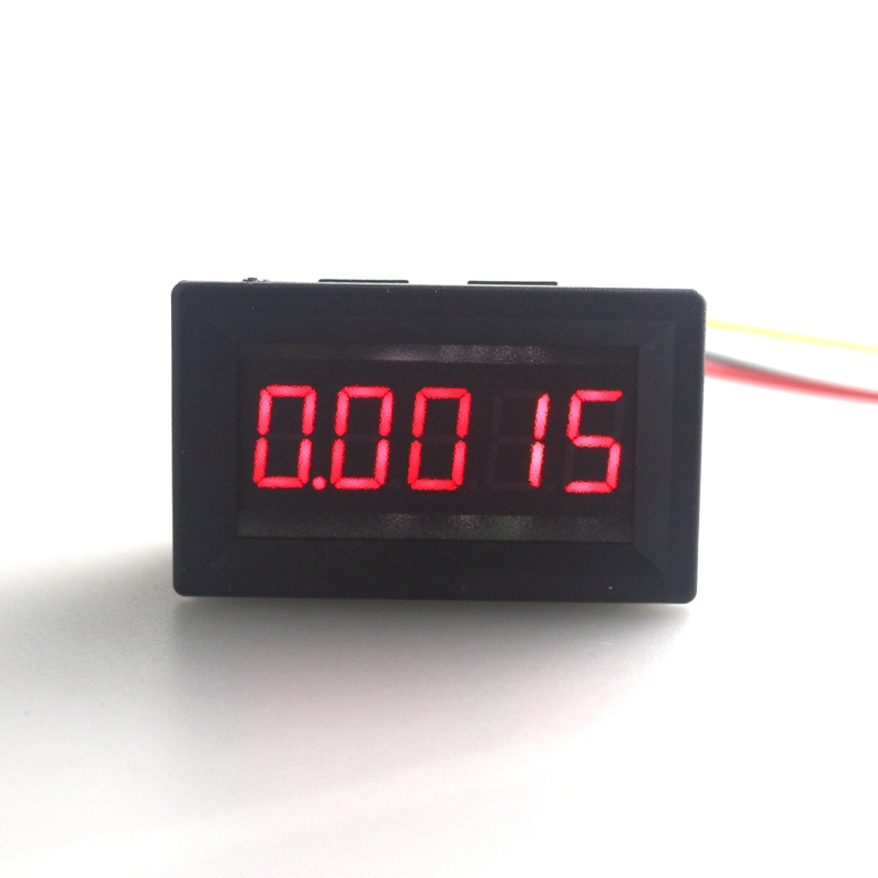 Mini Car LED Display Digital Voltmeter DC 4-30V 0.36 5 Digit Voltage Panel Meter Red 3 Wires High Accuracy Free Shipping 100 pcs ld 3361ag 3 digit 0 36 green 7 segment led display common cathode