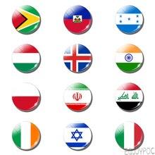 12 шт. Гайана магнит для холодильника с флагом, гаитский, гондалский, венгерский, индийский флаг, держатель для заметок, магнитные стикеры на холодильник, домашний декор