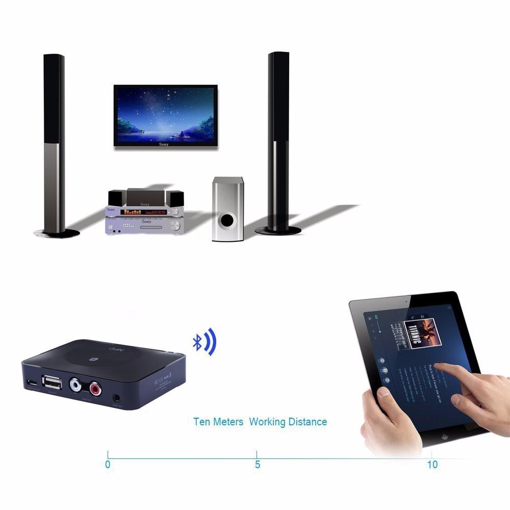 NFC Bluetooth Wireless Desktop Stereo Audio Music Receiver DVD Player Car Speaker USB Adapter  (24)