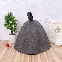 Bathroom Accessories Sauna Hat Wool Felt Anti Heat Banya Hair Cap For Women