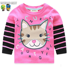 2016 New Fashion Spring Autumn Baby Girl Clothes Hot Baby Girl Long Sleeve Tops T shirt