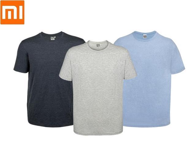 2 шт./лот Youpin хлопок Смит Мужская Футболка свободная удобная мягкая дышащая летняя футболка