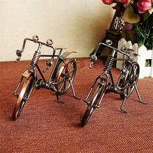 Antique Bike Model Metal Craft Home Decoration VIntage Bicycle Figurine