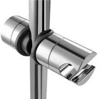 Support réglable de barre de Rail de glissière de douche en plastique de Chrome d'abs de 18 ~ 25mm support de support de tête de douche support de montage de curseur