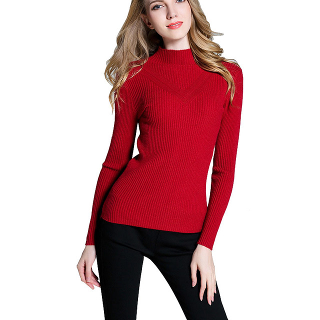 0dbe8aebac7 Korean Turtleneck Womens Sweaters Warm Cable Knitted High Neck Sweaters  Knitting Women Pullover Elastic Maglie Donna