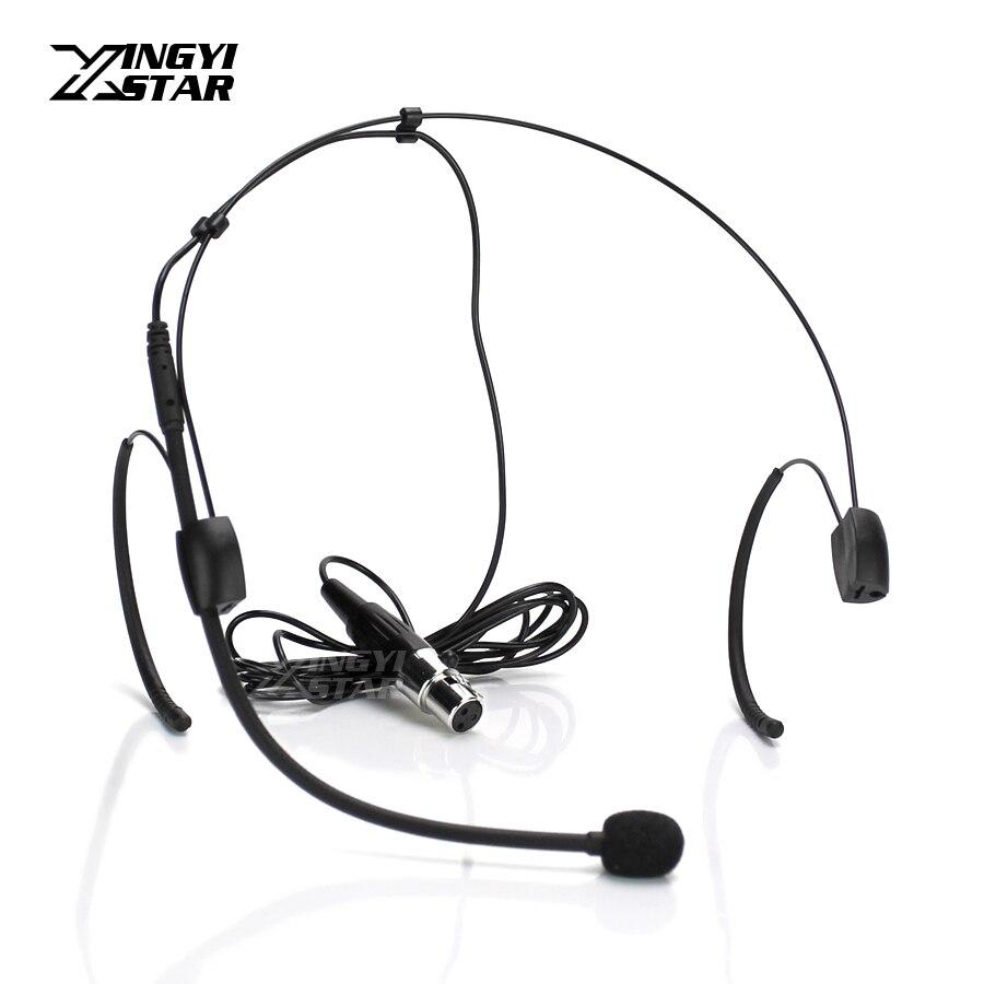 Mini XLR 3 Broches TA3F Professionnel Serre-Tête Casque Système de Microphone Pour SAMSON UB7 UR7 Karaoké Sans Fil Mic Émetteur de poche