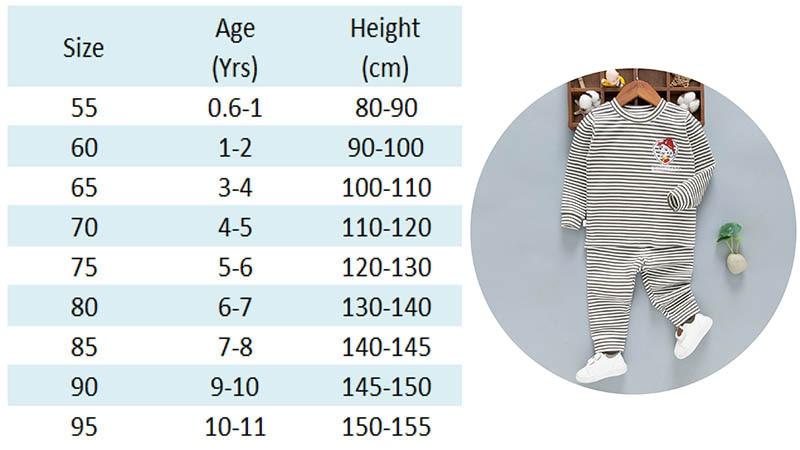 Kids Pajamas Size Chart-5