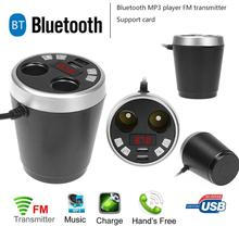 Bluetooth Car Kit Wireless Trasmettitore Fm Radio Adapter FM Modulatore Handsfree Musica Mp3 Accendisigari Dual USB Charger Nuovo