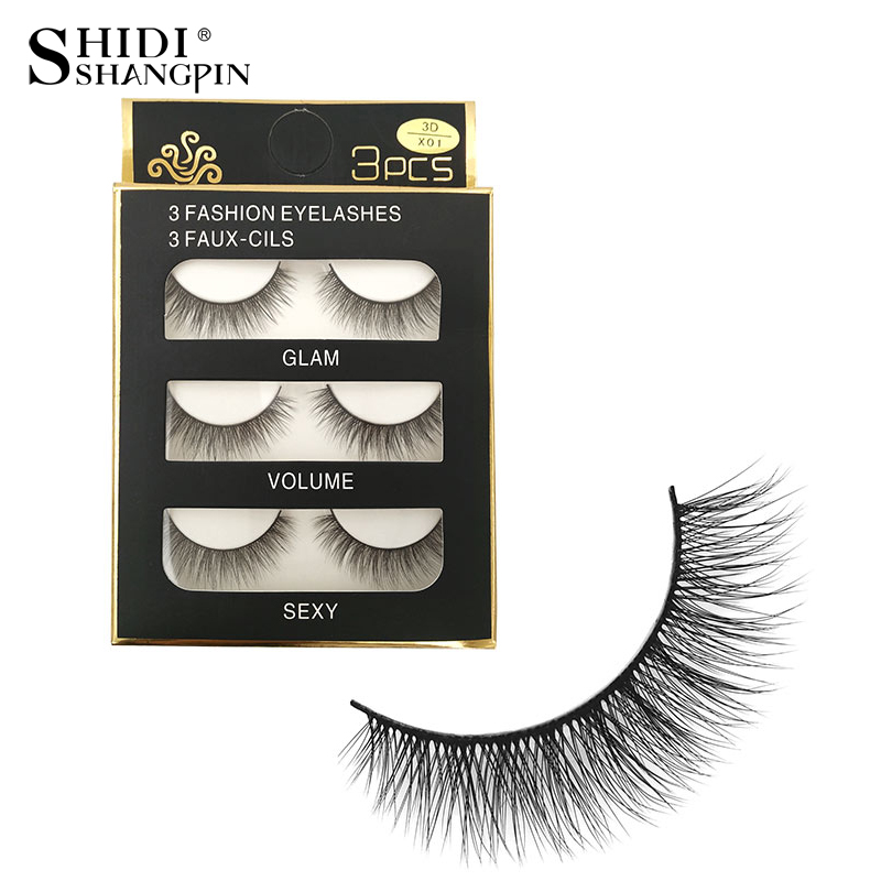 15 Pairs New Christmas Gift Handmade Cotton Band 3d Mink False Eyelashes Natural Makeup Beauty Tools Fake Lashes Faux Cil X01*5