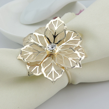 50pcs/lot Exquisite high-end hotel restaurant dedicated napkin ring mouth cloth napkin ring  seat ring