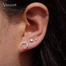 Sterling Silver Horn Stud Earrings Tiny Cartilage Earrings For Women Silver Stud Earrings 8mm