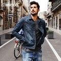 Simwood 2016 nova outono inverno homens jaqueta jeans jaqueta jeans da moda streetwear 100% algodão nj6510