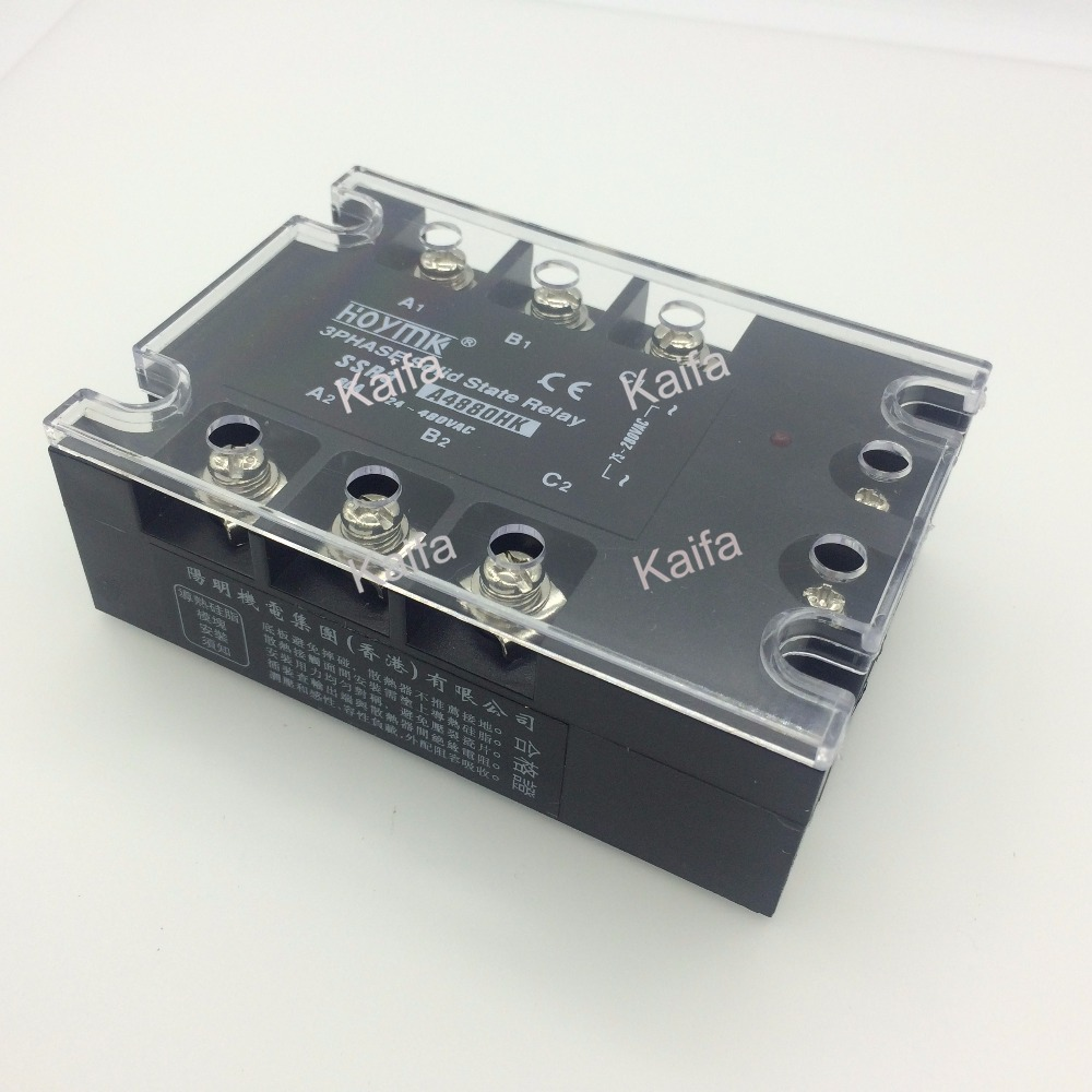 wholesale genuine Solid State Relay SSR3-A4880HK 80A 24-480VAC normally open single phase solid state relay ssr mgr 1 d48120 120a control dc ac 24 480v