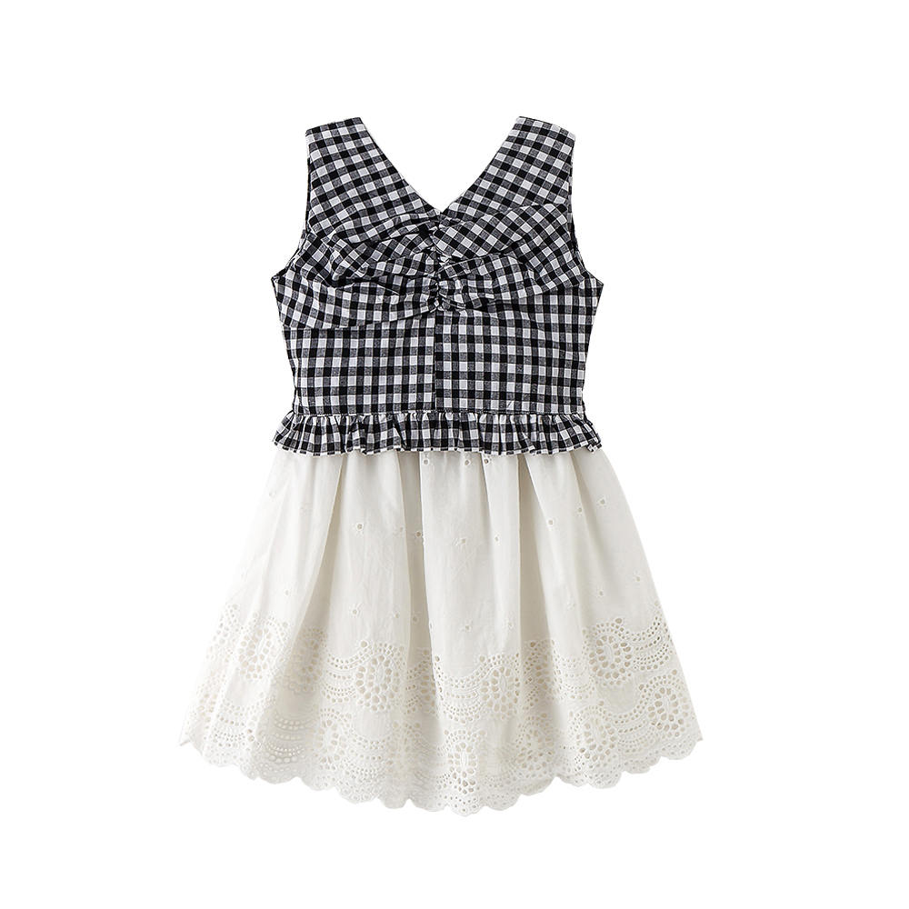 B-S122 New Fashion Summer Girls Casual Set 5-13T Teenager Black White Set Kids sleeveless T-shirt+Lace Skirt 2pcs Outfit Suit little j new fashion kids girl clothes set summer short sleeve love t shirt tops leather skirt 2pcs outfit children suit