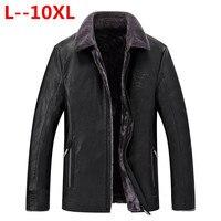 Большие размеры 10XL 8XL 6XL Для мужчин Натуральная кожаные пальто овчины Для мужчин короткая куртка кожа зимние куртки Для мужчин s Бесплатная д