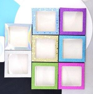 Image 2 - 20 set/lot Packing box for eyelash blank eyelashes package Multicolor paper box white tray 25mm Eyelashes DIY flash packing box