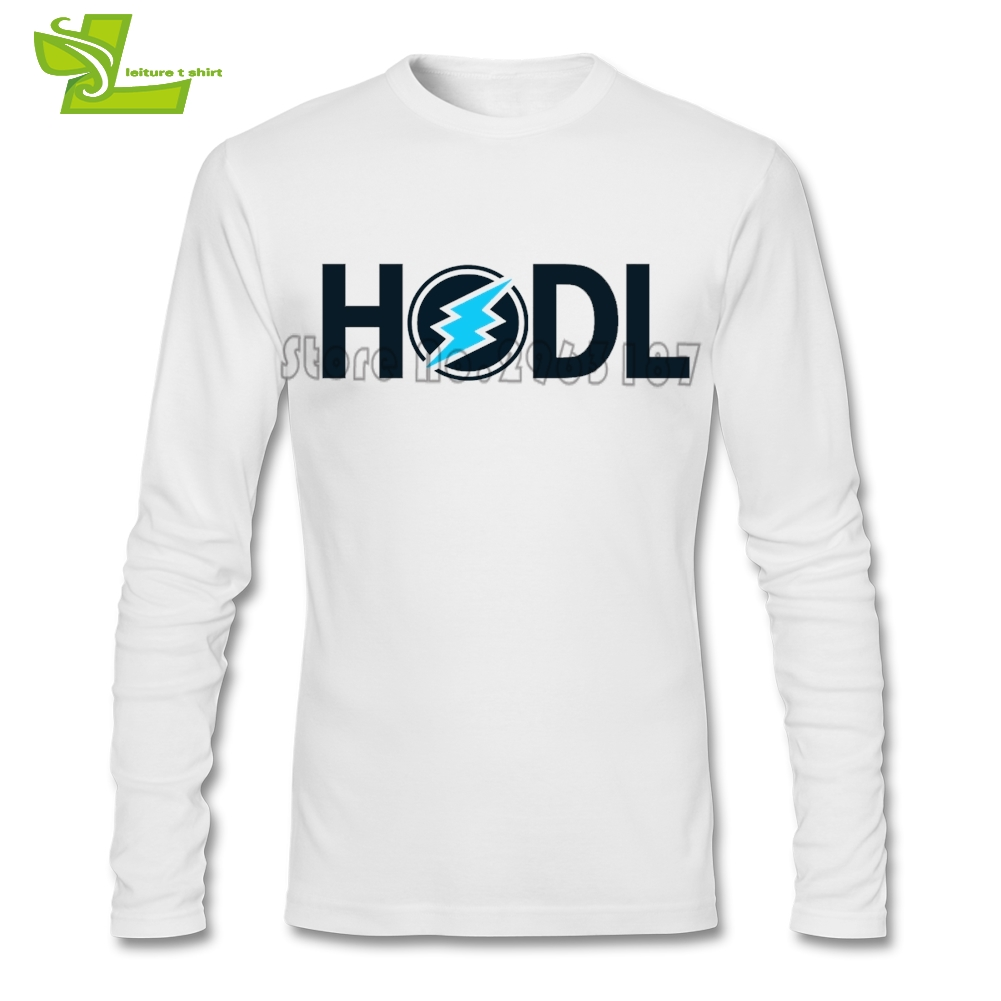 HODL Electroneum ETN Male T Shirt Leisure Loose Tops Mens Long Sleeve 100% Cotton Camise ...