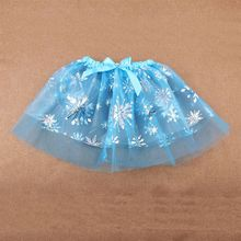 Toddler Kid Girl Ballet Dance Bowknot Tutu Skirt Glitter Metallic Snowflake Coat
