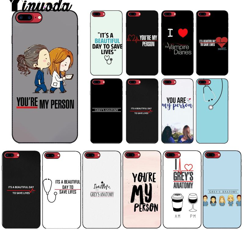 Cellphones & Telecommunications Yinuoda American Tv Greys Anatomy Nurse Doctor Pattern Tpu Soft Phone Case For Apple Iphone 8 7 6 6s Plus X Xs Max 5 5s Se Xr