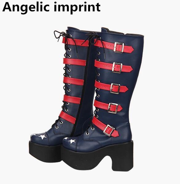 Cm Altos Angelical Princesa Chica Fiesta Punk 10 Zapatos Bombas 33 xtvnY5