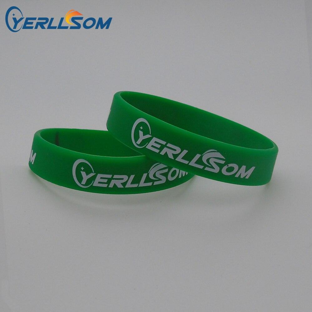 YERLLSOM 150PCS customized personalized silicone bracelets wristbands with printing writing YS18080601