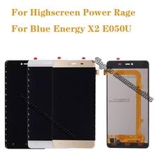 5.0 אינץ עבור Highscreen זעם כוח תצוגה + מסך מגע digitizer מחליף כחול אנרגיה X2 E050U LCD תיקון חלקי משלוח חינם