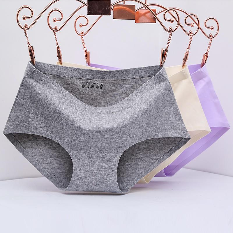 Hot Sale Women Underwear Lingerie Girls Seamless Panties Intimates Seamless Natural Cotton Solid Briefs M L XL Size