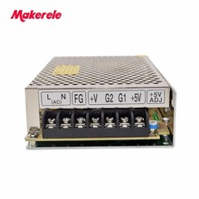 Dual Output Switching power supply AC-DC 50w 12V 24V D-50C 2A 1A input selected by switch plc dvpps02 dc24v output 2a in box switch power supply