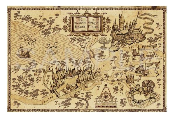 mapa harry potter Merodeador mapa Harry Potter Poster pintura decorativa alta  mapa harry potter