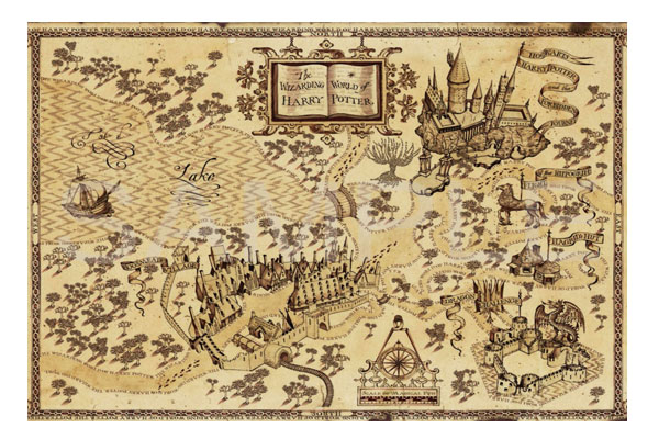 The Marauder S Map Harry Potter Poster Decorative Painting